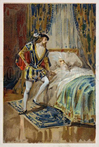 King Francis I of France at the bedside of the dying ...
