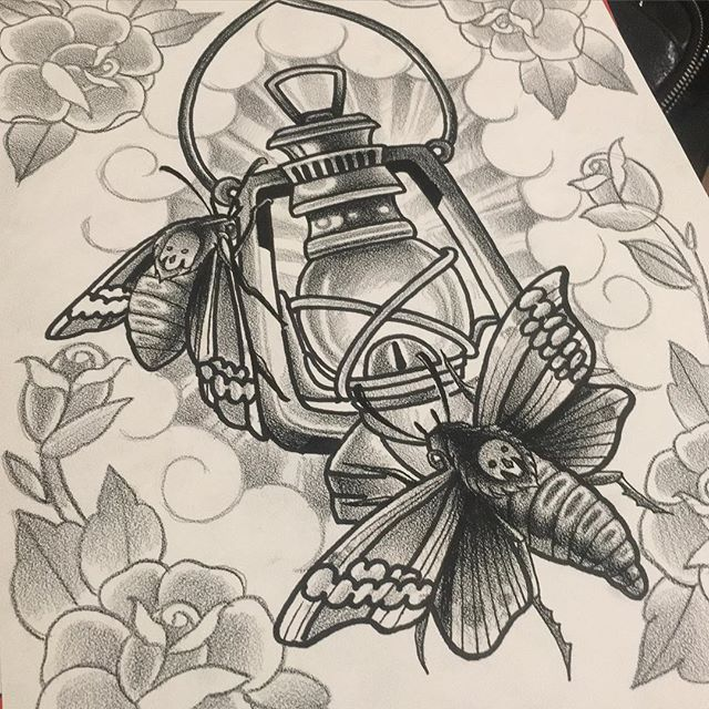 Lantern tattoo inspiration
