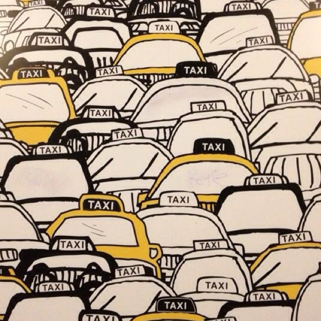 i love taxis, and art is no exception #NYCLove