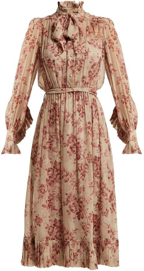 96813f88b5a9c Zimmermann Unbridled floral-print silk-chiffon dress | midi/maxi ...