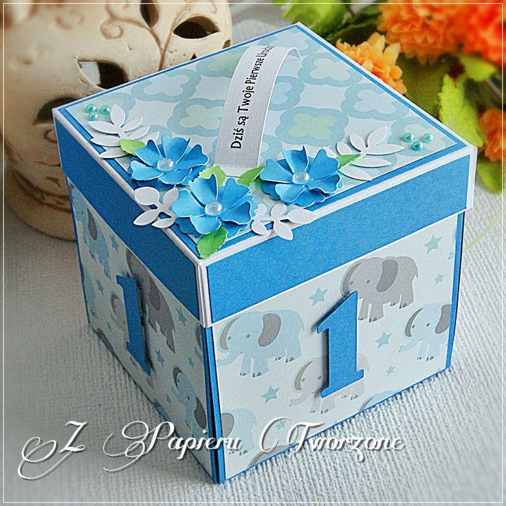 Pudełko na roczek dla chłopca