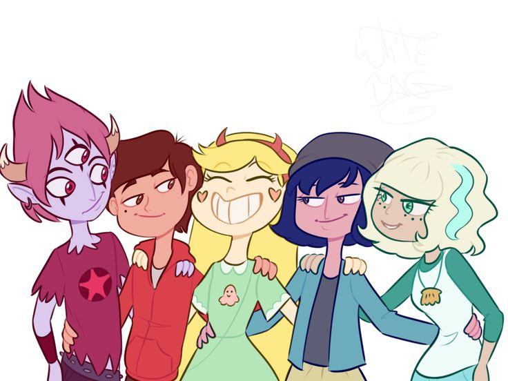 They kind of represent to emotions from inside out!! Tom is anger, Marco is fear, Star is joy, Janna is sadness, and Jackie is disgust!!!