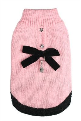 Coco Channel Mohair Sweater for dogs in color Pink