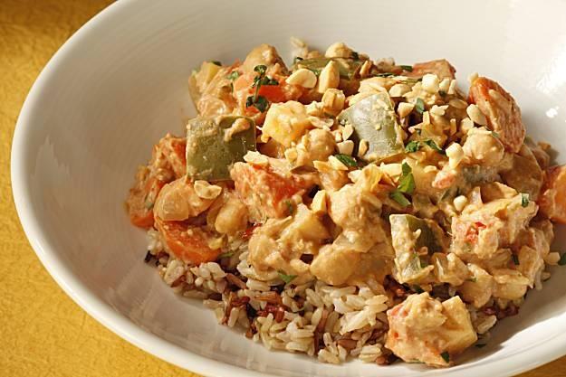 Vegetarian Peanut Stew | Entrees: Vegetarian | Pinterest