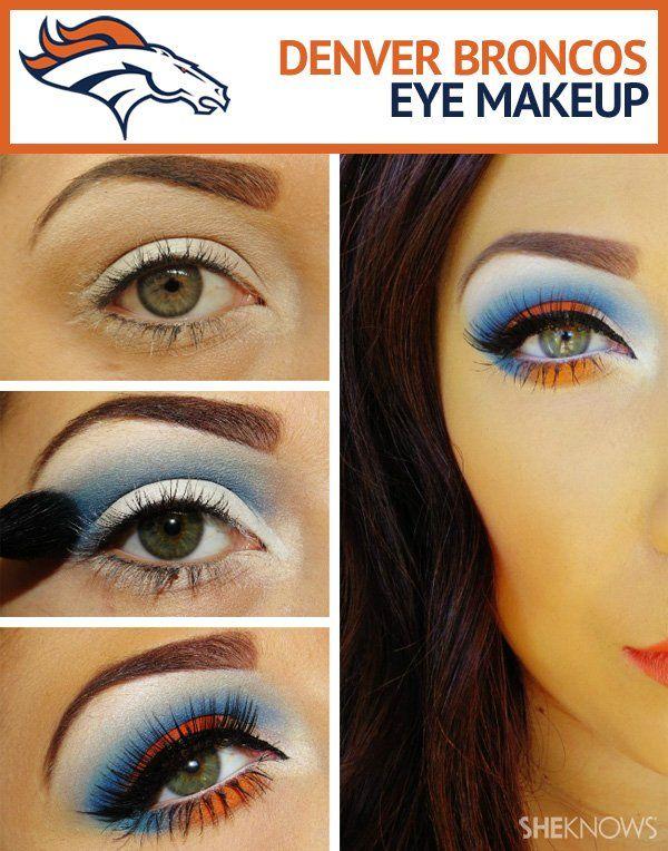 Denver Broncos Superbowl makeup