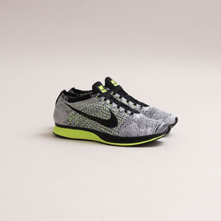 CNCPTS / Nike Fly Knit Racer (Black/White/Volt) - I WANT
