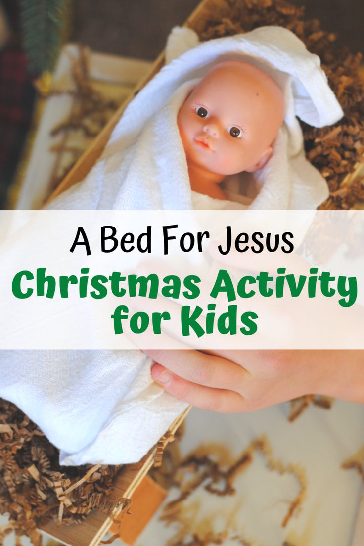 Bed For Baby Jesus Christmas Lesson For Children