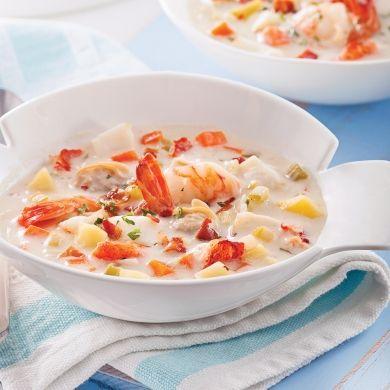 Les amateurs de poisson et de fruits de mer seront comblésavec cette recette typique de la Gaspésie et des Îles-de-la-Madeleine.
