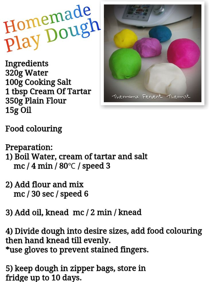 Ripple Thoughts: Thermomix Playdough Recipe