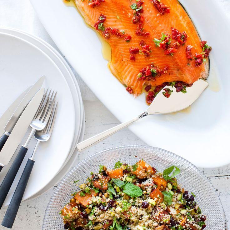 Christmas Smoked Salmon with Celebration Couscous | Nadia Lim