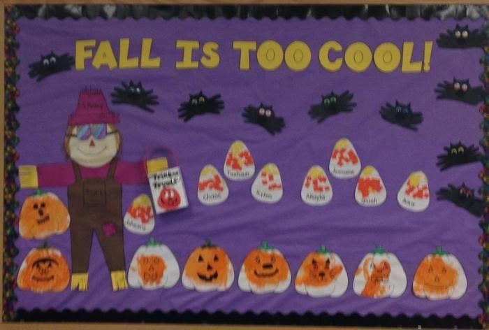 Fall Is Too Cool! | Fall Bulletin Board Idea