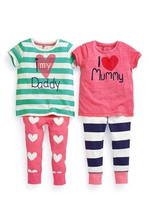Buy Slogan Pyjamas Two Pack (12mths-6yrs) from the Next UK online shop