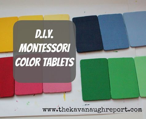 The Kavanaugh Report: DIY Montessori Color Tablets