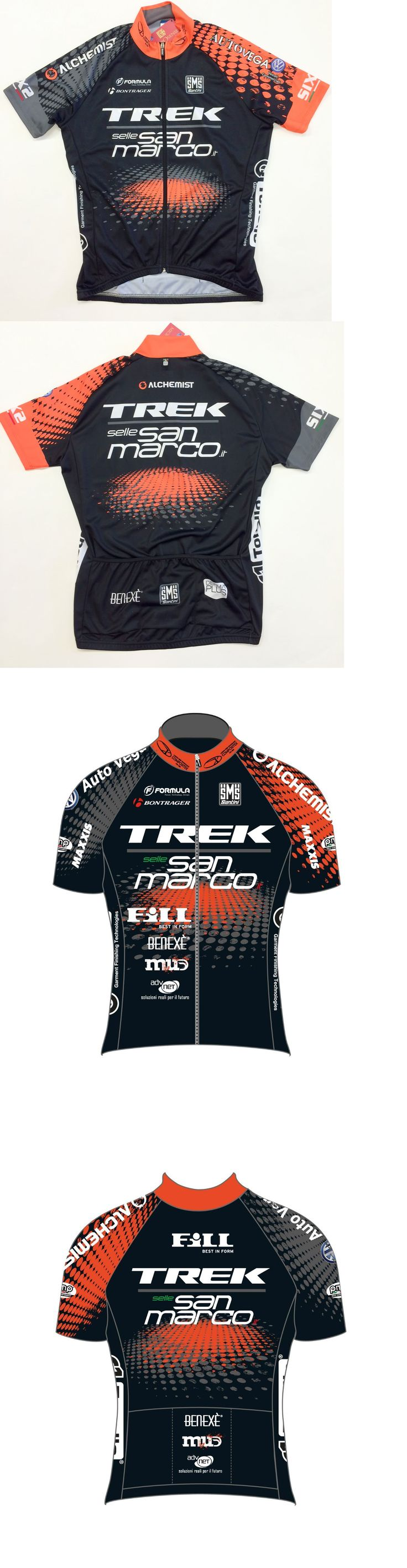 Jerseys 56183: 2016 Trek Mtb Team Cycling Jersey Made In Italy By Santini -> BUY IT NOW ONLY: $99.95 on eBay!