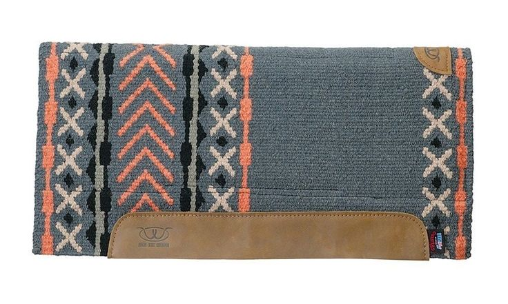 Weaver Leather Memory Foam Saddle Pad Woven Top Black/Orange/Grey/Sand 32 X 32 #WeaverLeather