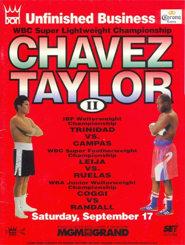 Julio Cesar Chavez KOs Meldrick Taylor This Day September 17, 1994 and retains the crown.  #Boxing  #BoxingHalloffame