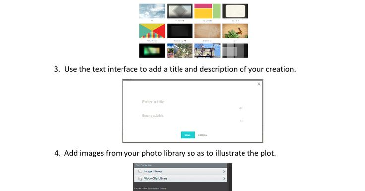 """This is the """"I can"""" card I created to guide my students into using Animoto. It is a simple and clear way of setting the guidelines for a latter work."""