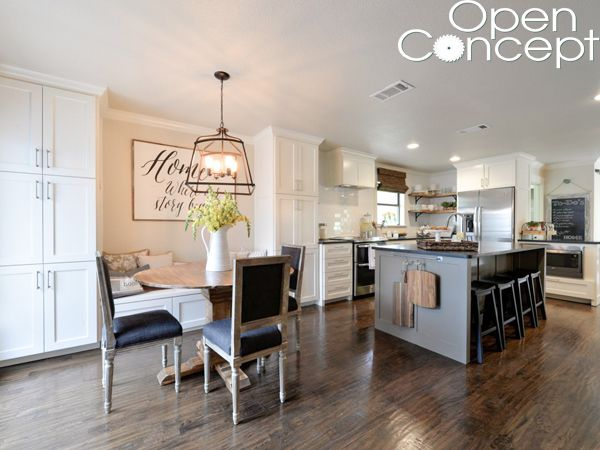 Diy Round Table As Seen On Hgtv Open Concept Dining Furniture Makeover Apartment Furniture Cheap Open Concept Kitchen