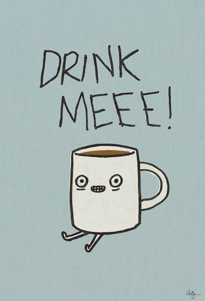 Drink Me Coffee Art Print By Phil Jones / On We Heart It / Visual Bookmark  On Imgfave