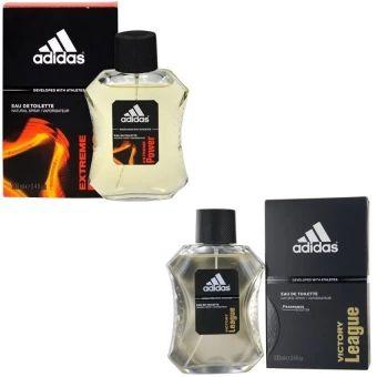บอกต่อ  Adidas Extreme Power Adidas for men EDT 100 ml +Adidas VictoryLeague For men 100ml.พร้อมกล่อง  ราคาเพียง  600 บาท  เท่านั้น คุณสมบัติ มีดังนี้ กลิ่นหอมสดชื่น ติดทนนาน ใช้ได้ทุกโอกาส