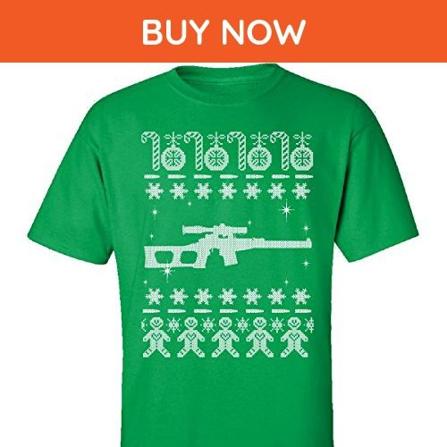 Sniper Rifles Ugly Sweater Vss Vintorez Christmas - Adult Shirt M Irish-green - Holiday and seasonal shirts (*Amazon Partner-Link)