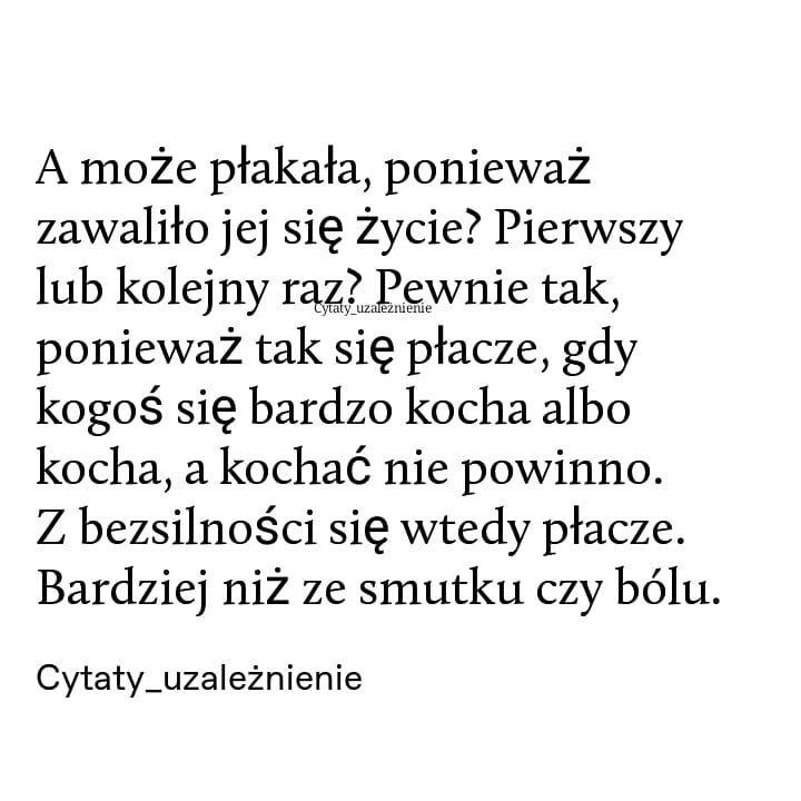 Cytaty Uzaleznienie Na Instagramie Spodobal Ci Sie Cytat Obserwuj Cytaty Uzaleznienie Wlacz Powiadomienia Badz Na Biezaco Quotes Words Poems