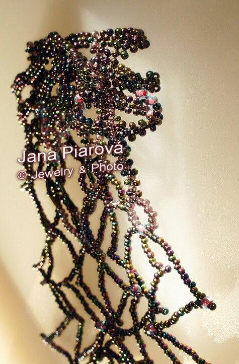 JANA PIAROVÁ  Šperk, foto * JEWELRY, PHOTO České sklo * MATERIAL * CZECH GLASS   Unique model, hand made * https://www.facebook.com/pages/Jana-Piarová/138211165486?ref=br_rs
