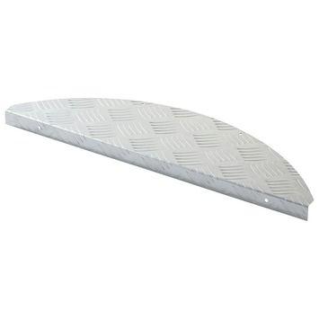 Traptrede traanplaat motief zilver | Trapmatten | Deurmatten | Vloeren | GAMMA
