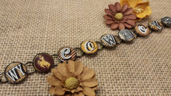 Wyoming Cowboys Bracelet officially licensed by SarahBerryDesigns