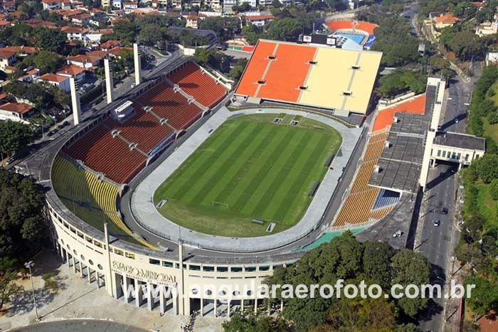 Foto aérea do Estádio Municipal do Pacaembú-SP