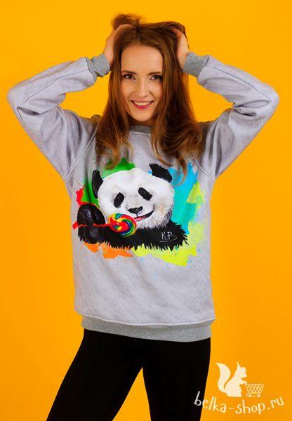 Sweet panda! | belka-shop.ru | #design #clothing #fashion #sweatshirt #sweat #coolsweatshirt #fashionweek #katebelchik #belkashop #beard #fruitbeard