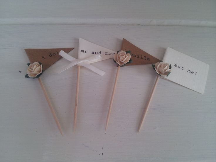 Rustic cupcake picks