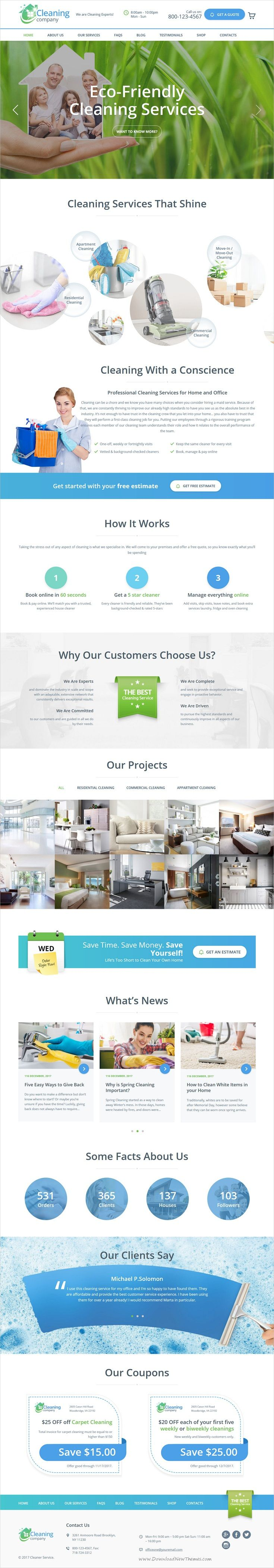 Carpet cleaning receipt joy studio design gallery best design - Cleaning Services Wordpress Theme Rtl Professional And Beautifully Design