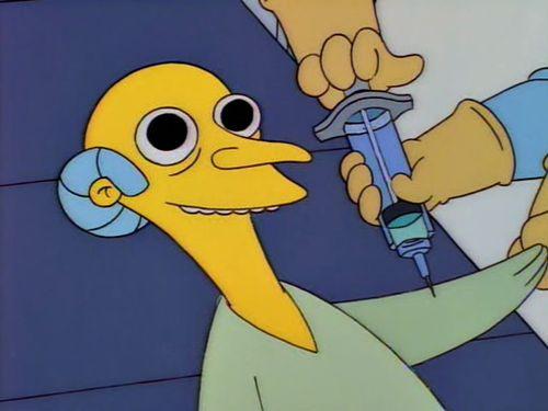 Mr Burns' Friday night routine Les traigo paz les traigo amor