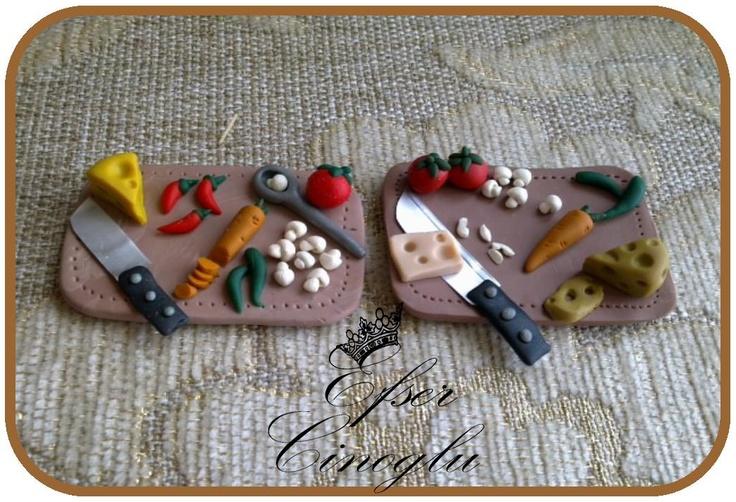 minyatür mutfak tahtası