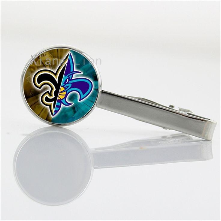 Новые креативные дизайн инь ян искусство чехол для Нью-Орлеан команда логотип галстук бар зажим американский футбол галстук бар клипы NF131