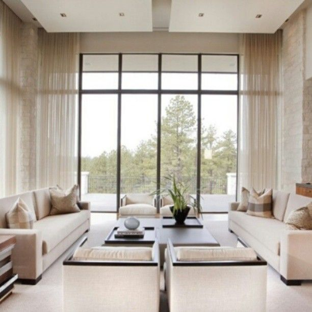 Living Room Large Windows: 34 Best Window Treatment Ideas For Large Windows Images On
