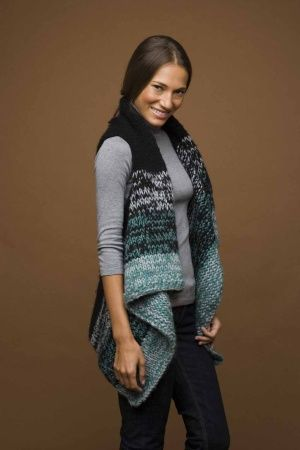 INSPIRATION, cover-ups // Image of Knit Rectangle Vest (knitting pattern, but could easily convert to a crochet pattern)