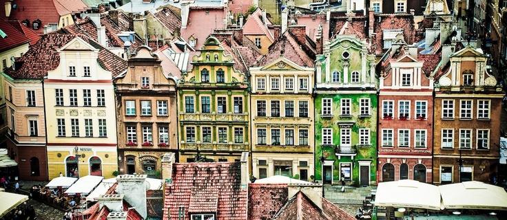 Poznan Poland, Domki budnicze na Starym Rynku [fot.Marcin]