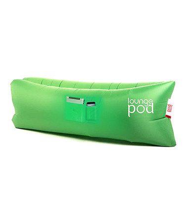 Look at this #zulilyfind! Green Self-Inflatable Lounge Pod #zulilyfinds