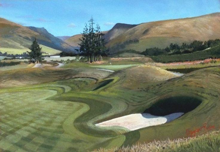 Margaret Evans Towards 1st From 18th PGA, Gleneagles. Contemporary Scottish Art