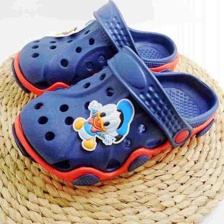 새로운 도착 청소년 소년/여자 패션 여름 샌들 비치 방해 악어 맞춤 신발 매력/플립 슬리퍼 EVA 신발