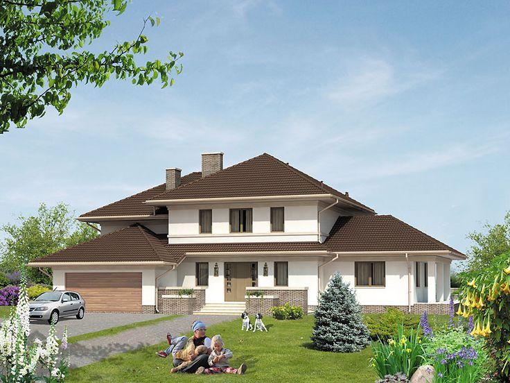 Na parterze znajduje się część dzienna z gabinetem oraz część rekreacyjna z basenem i sauną.