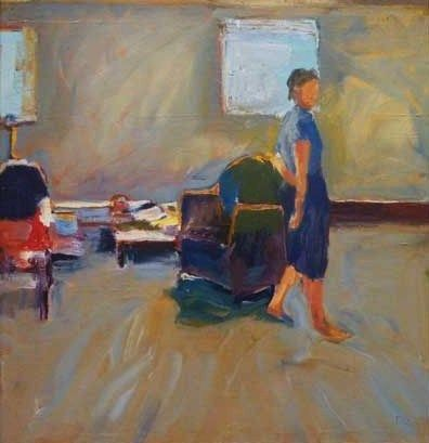 Richard Diebenkorn (US 1922-1993) Girl in a room (1958)