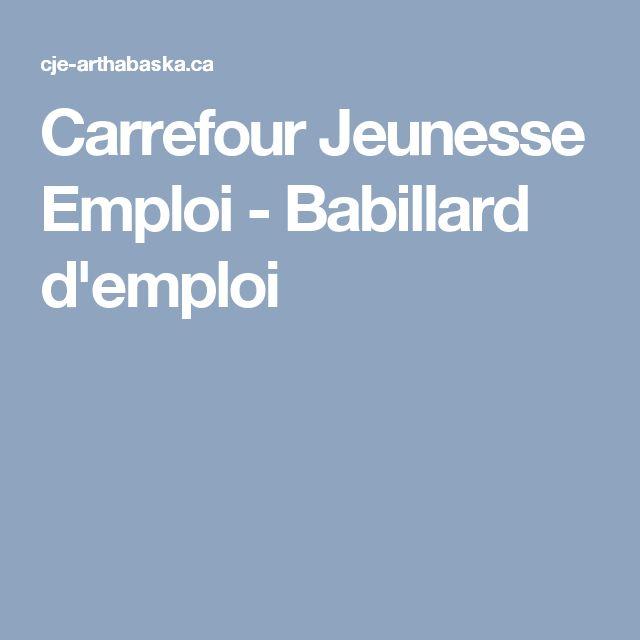 Carrefour Jeunesse Emploi - Babillard d'emploi