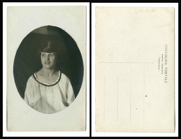 NERINA b FOTO RITRATTO D EPOCA DI SANTINO SALARDI-SAN GIOVANNI IN PERSICETO 1921