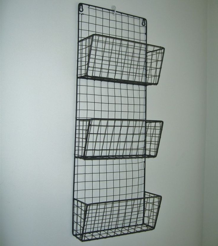 Metal Wire Magazine Letter Rack Wall Unit Vintage Industrial Basket Style NEW in Home, Furniture & DIY, Storage Solutions, Other Storage Solutions | eBay