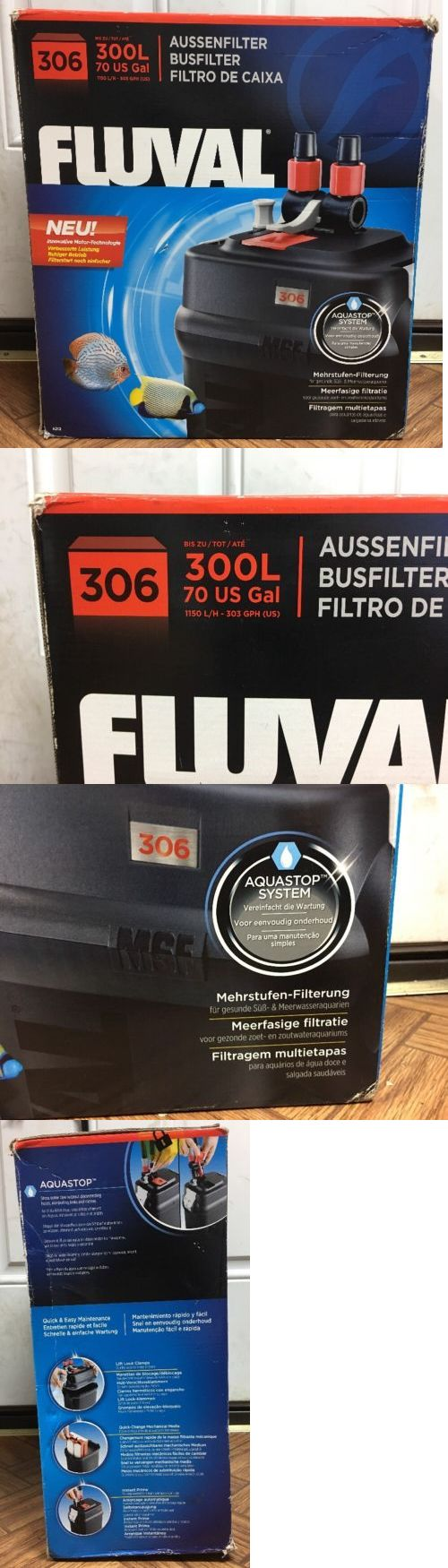Filter Media and Accessories 126476: Fluval 306 Aquarium Filter 300 L 70 Us Gal Open Box New -> BUY IT NOW ONLY: $124.75 on eBay!