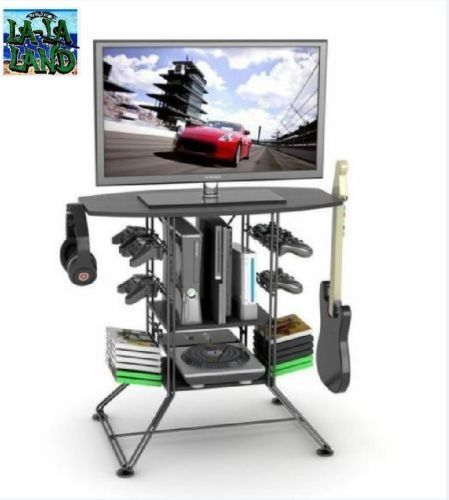 Foyer Storage Xbox One : Details about tv stand rack furniture video game console