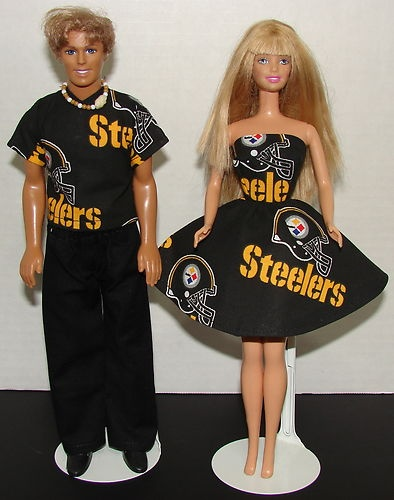 Handmade Ken Barbie Clothes Matching NFL Steelers Football | eBay